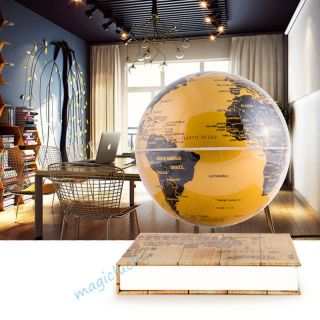 14cm Office Desk Dekor Gold Led Lamp Magnetische Schweben Schwimmende Globus Bild