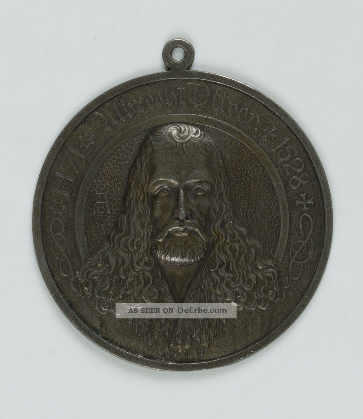 Albrecht Dürer Plakette,  Messing (?) Messing Bild