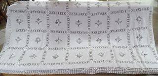 Antike Riesige Jugendstil Handarbeit Tischdecke Herrlich Verziert Ca.  2,  7x1,  4 M Bild