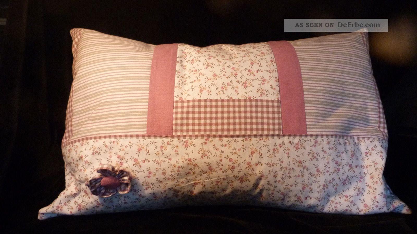 vintage landhaus kissen 60 x 40 augenscheinlich leinen und unbenutzt shabby. Black Bedroom Furniture Sets. Home Design Ideas