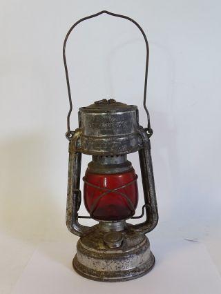 Antike Feuerhand Sturmkappe Petroleum Lampe Dbp Garantiert Sturmsicher Bild
