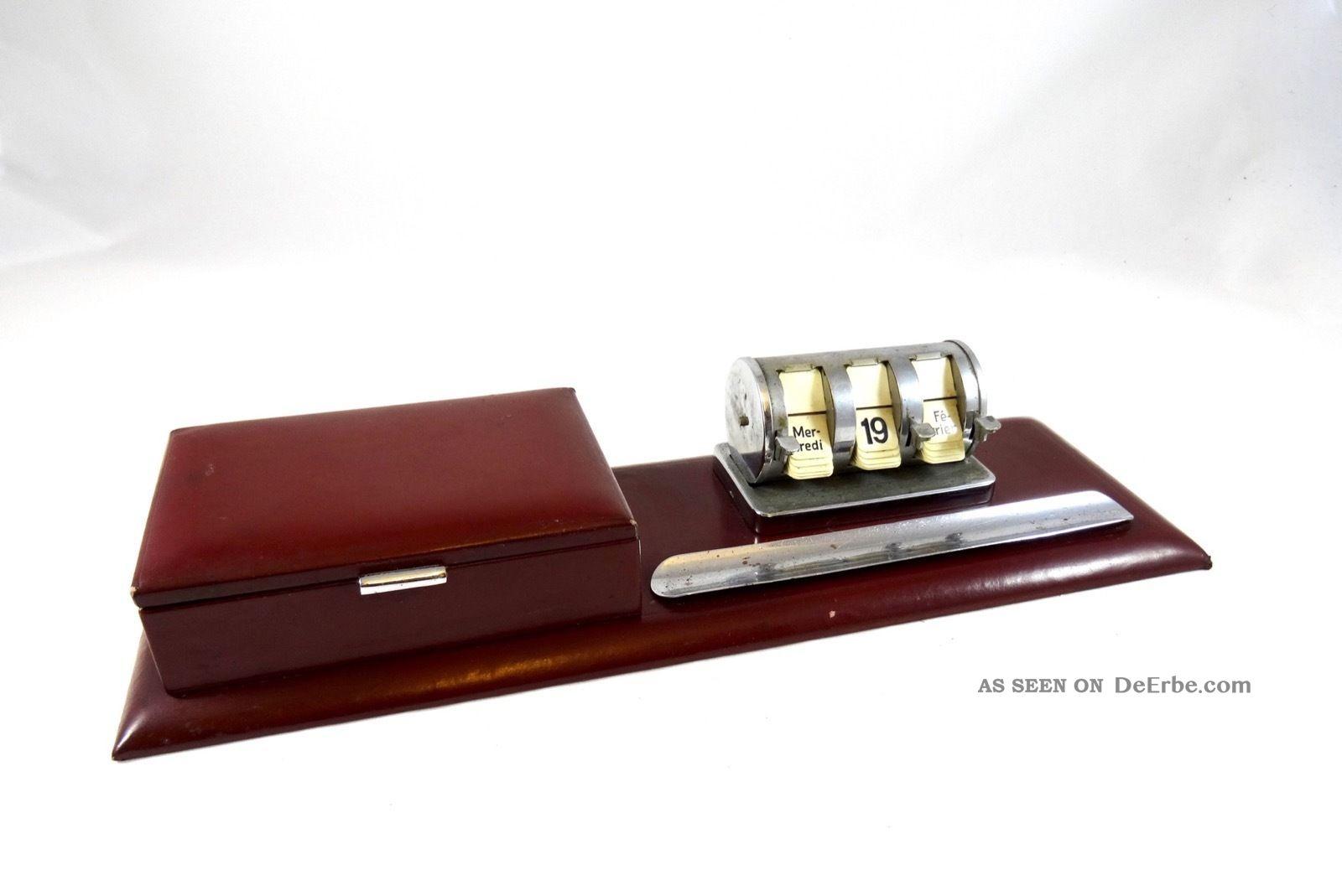 Art Deco Modernist Ablage Bauhuas Utensilo 30er Flip Kalender Bauhaus 1920-1949, Art Déco Bild