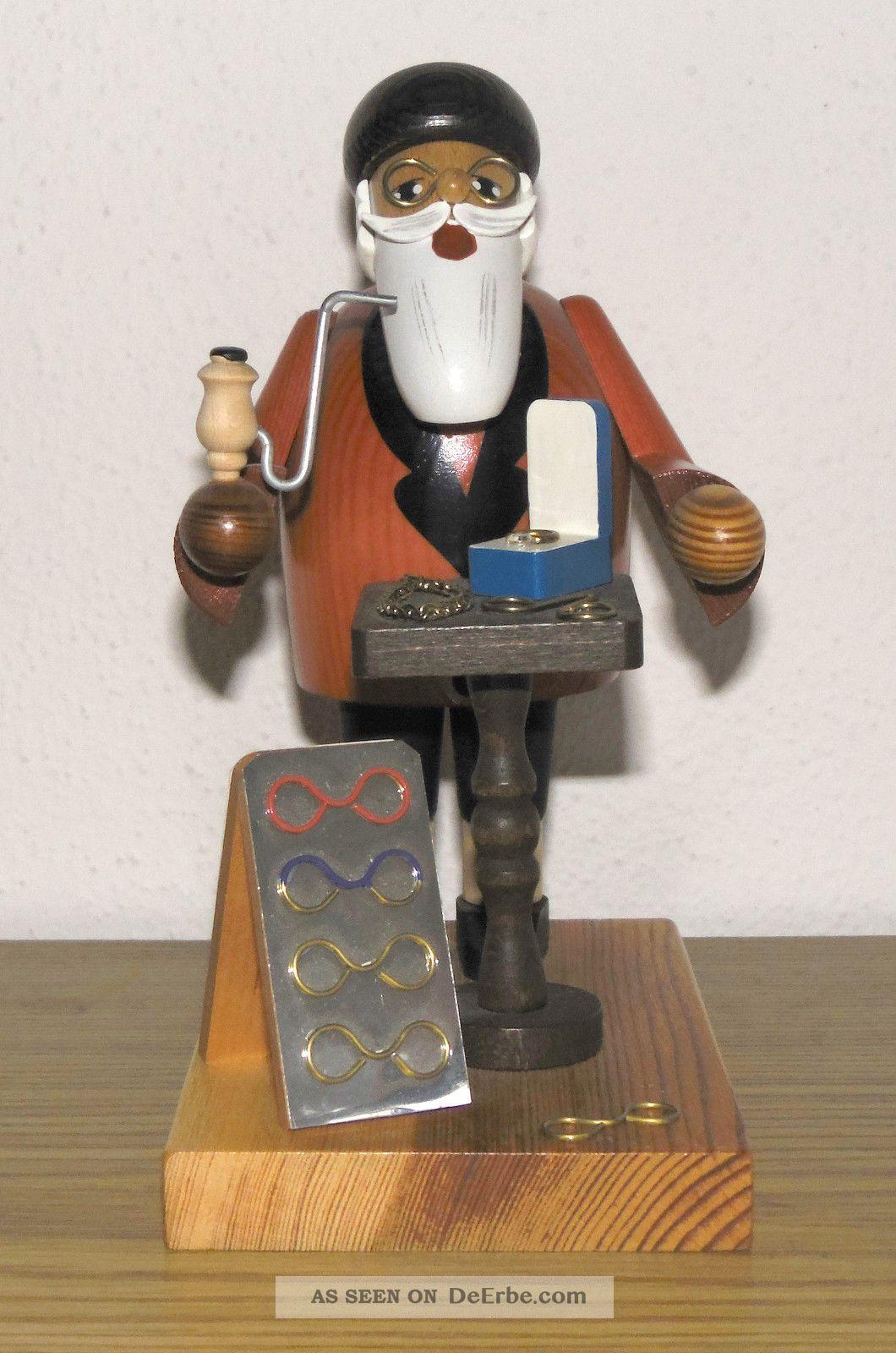 Räuchermännchen - Räucherfigur - Brillenhändler - Kwo - Erzgebirge - 2001 Objekte nach 1945 Bild
