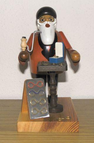 Räuchermännchen - Räucherfigur - Brillenhändler - Kwo - Erzgebirge - 2001 Bild