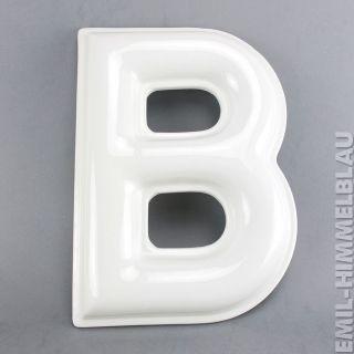 Buchstabe B Werbung Reklame Letter Wand Weiss Vintage Porzellan 32cm Bild