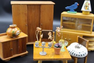 Puppenwohnzimmer Um 1940 - 1960 Puppenhaus Puppenstube,  Dekoartikel Bild