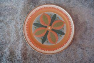 Keramik Wandteller Zierteller - Kmk - Handgedreht Handbemalt Bild