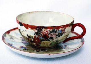 Teegedeck/tea Place Setting Cup & Saucer,  Eggshell,  Kutani,  Japan Um1900 Meiji Bild