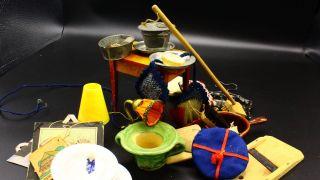 Konvolut Zubehör Antike Puppenküche Puppenstube Kaufladen Um 1920 Bild
