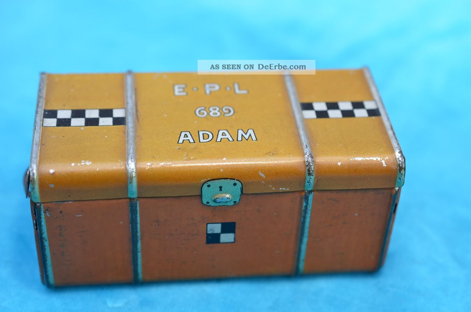 Blechspielzeug Lehmann Epl 689 Koffer Für Adam Kofferfahrer Original, gefertigt 1945-1970 Bild