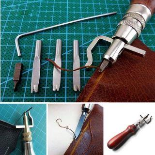 7tlg Lederwerkzeug Lederhand Punziereisen Leather Craft Stitching Groover Crease Bild