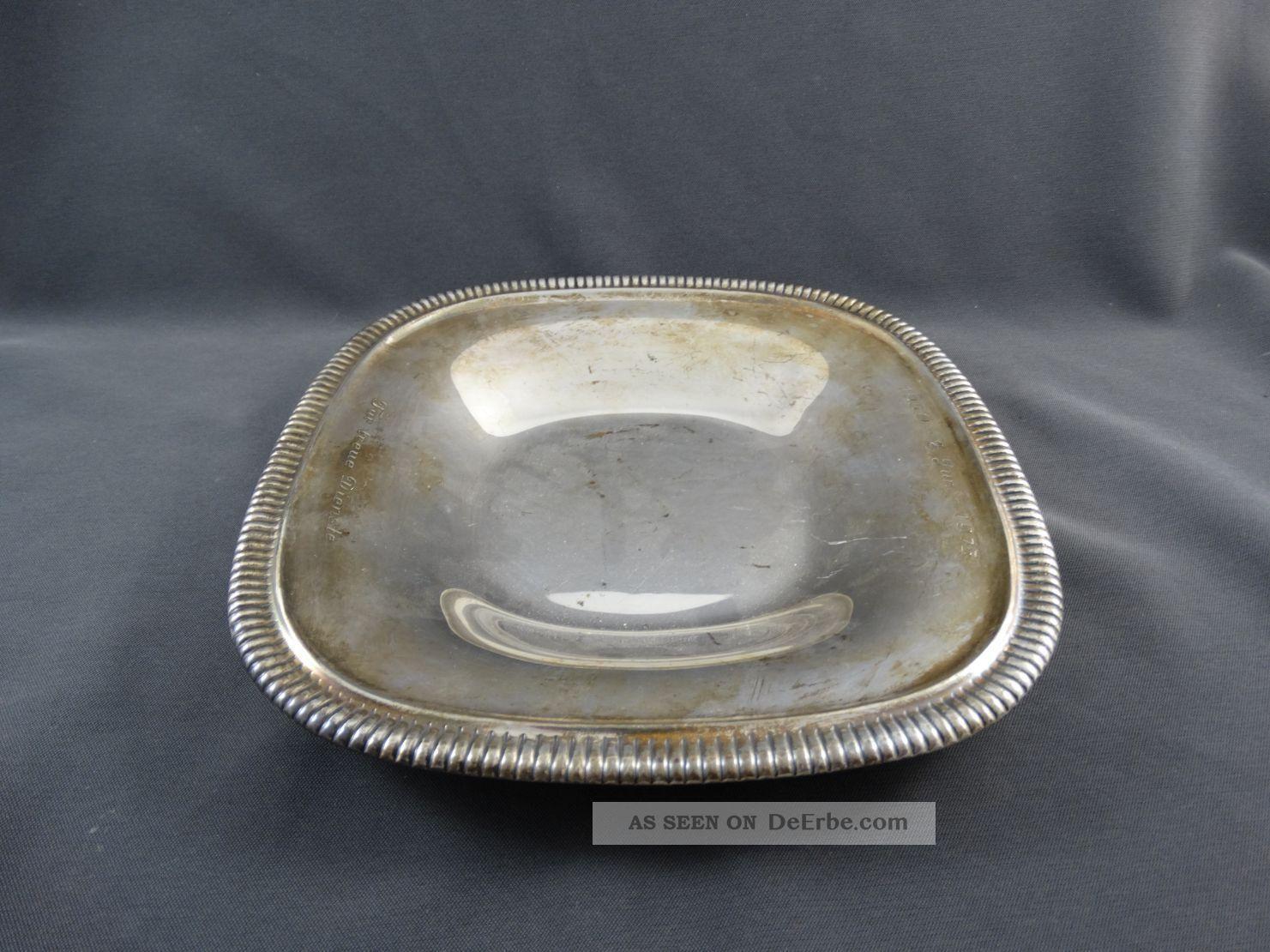 Wilkens Silber 835 Schale Quadratisch 232 G Objekte nach 1945 Bild