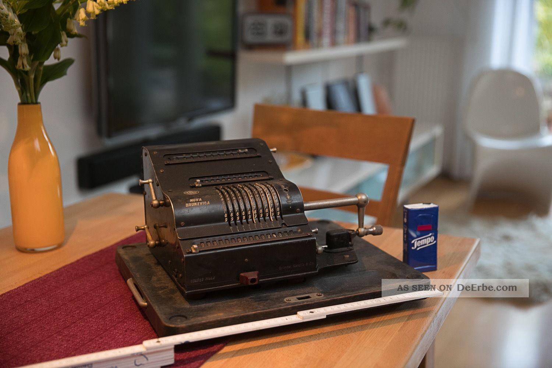 Nova Brunsviga Mod.  Ii Rechenmaschine In übergröße Selten Grimme Natalis Antike Bürotechnik Bild