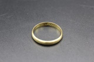 Alter 585 Gold Ring 1944 Ca.  2,  1 Cm Durchmesser Ca.  2,  91 Gramm Bild