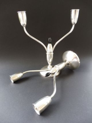 :: 975 Sterling Silber Silver Design Gorham Art Deco Kerzenleuchter Candlestick Bild