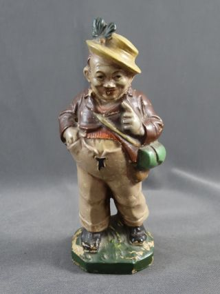 Alte Figur Sonneberger Friedel Masse Pappmaschee Wandersmann Bild