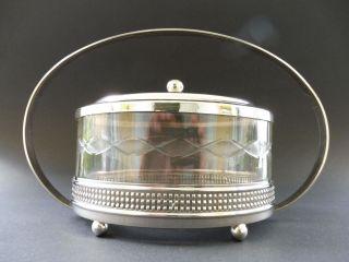 Jugendstil Design Bonbonniere Keks Dose Cookie Crystal Glas Box Art Nouveau 1915 Bild