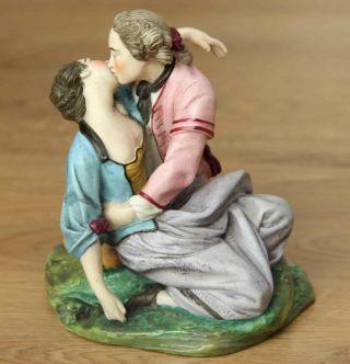 Antike Traum Porzellanfigur - Rokoko Paar - Frivoler Kuss - Figur Ca 1900 1 Kg Bild