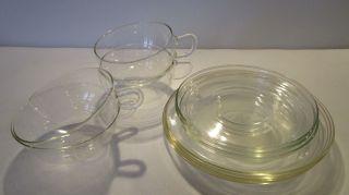 12 Serviceteile Eines Glas Teeservice Saale Glas Bild