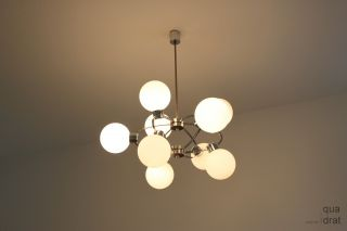 10armige Chromkugel Kaskadenlampe Staff 70er Sputnik Design Bild