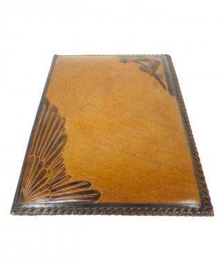 Art Deco MeisterstÜck Leder Schreibmappe Dokumentenmappe Signiert Satvy Um 1920 Bild