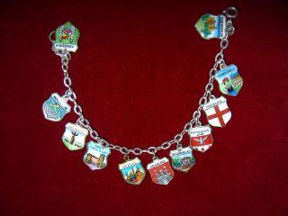 Antik Kinderschmuck Armband Silberarmband Bettelarmband Städte Wappen 800 Silber Bild
