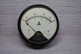 Antikes Amperemeter,  0 - 15a/0 - 5a Acdc,  Um 1920 Ø 19cm; K23 30 Bild