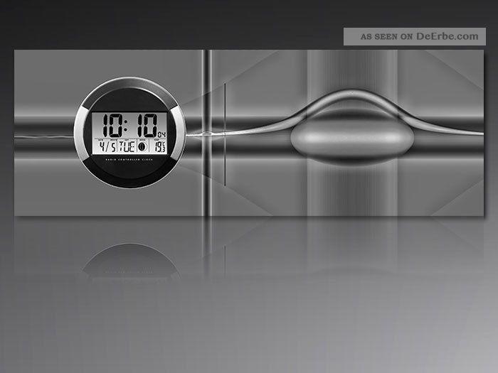 6125 Dixtime Digital Designer Wanduhr,  Moderne Wohnraumuhr 35x100cm Wanduhren Bild