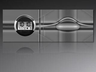 6125 Dixtime Digital Designer Wanduhr,  Moderne Wohnraumuhr 35x100cm Bild