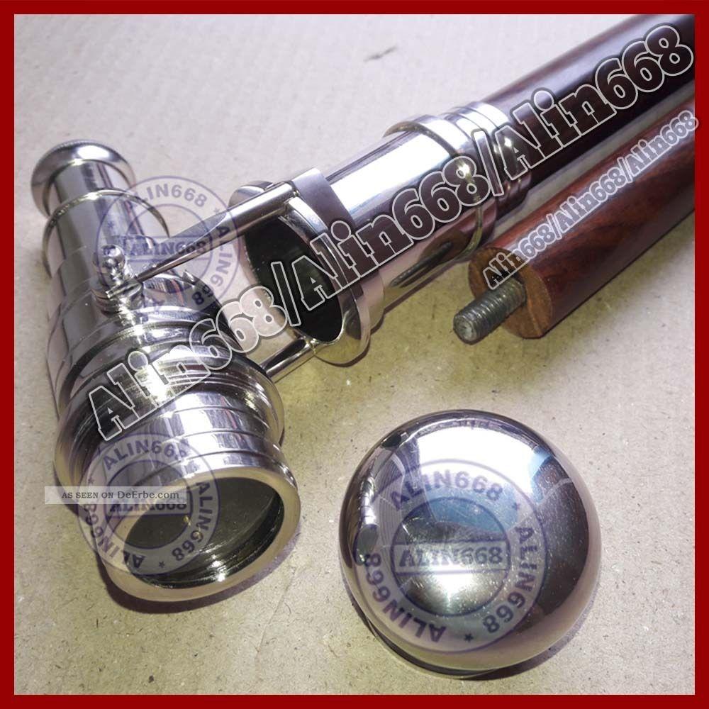 Flanierstock Gehstock Spazierstock Mit Teleskop Messing Fernrohr Silber Fertig Accessoires Bild