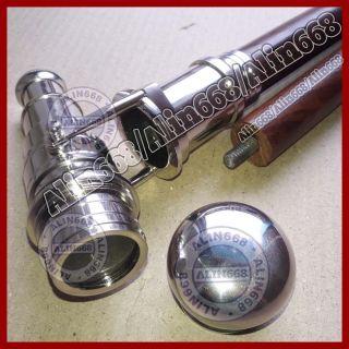 Flanierstock Gehstock Spazierstock Mit Teleskop Messing Fernrohr Silber Fertig Bild