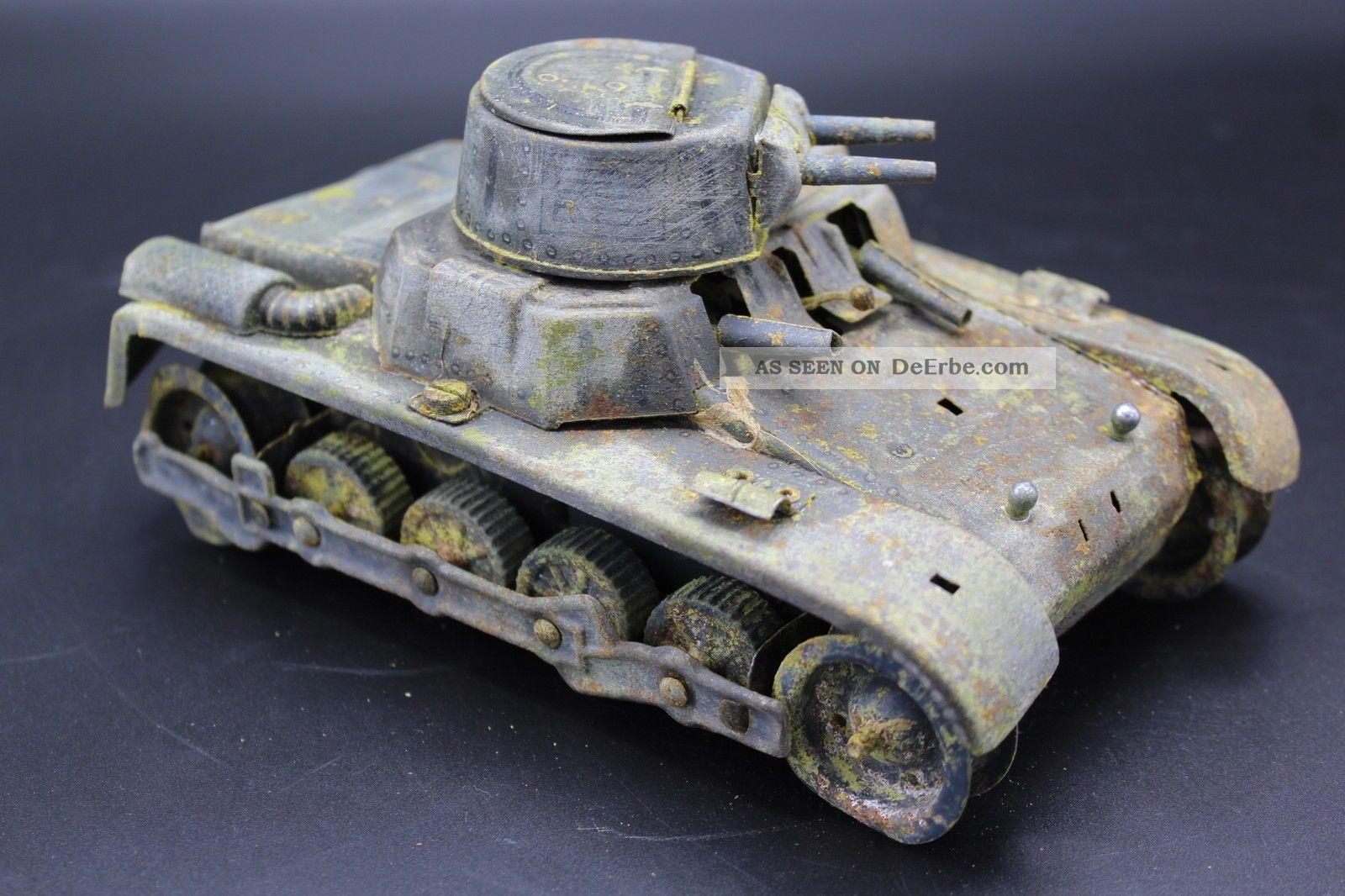 Restaurationsobjekt Gama Panzer Us Zone? Blechspielzeug 1950 Original, gefertigt 1945-1970 Bild