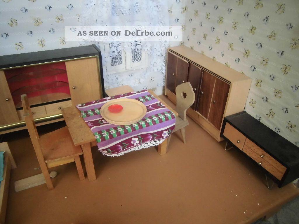 Konvolut Alte Möbel Für Puppenstube,  Alles Aus Holz,  Versch.  Puppen Nostalgieware, nach 1970 Bild