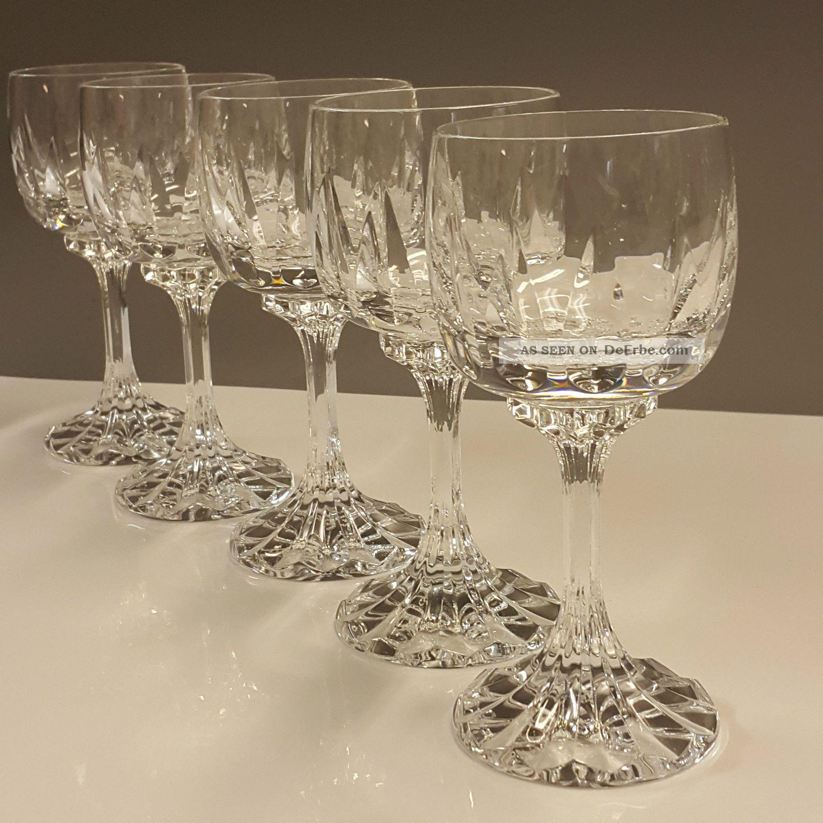 5 Villeroy & Boch Bleikristall Weißweingläser Weinglas Arabelle Neuw.  14,  8cm Kristall Bild