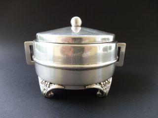 Design Zuckerdose Famak Lodz Cukiernica Art Deco 1930 Sugar Box Judaica 2j Wmf Bild