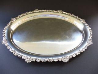 Jugendstil 800 Silber Tablett 708 Gramm Art Nouveau Solid Silver Tray Frau Punze Bild
