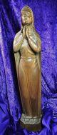 Wunderschöne Madonnenfigur / Holzschnitzkunst / Gemarkt H R / 1946 / 53 Cm Bild