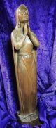 Wunderschöne Madonnenfigur / Holzschnitzkunst / Gemarkt H R / 1946 / 53 Cm Skulpturen & Kruzifixe Bild 2