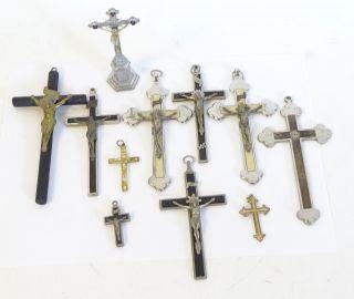 Konvolut Antike Kruzifixe Inri Sakrale Objekte Religiöse Raritäten Kreuze Etc. Bild