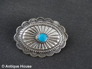 Schmuck Schmuckstück Sterling Silber 925 Brosche Anstecknadel Mit Türkis Bild