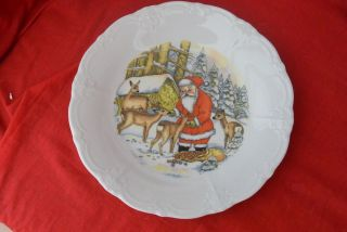 Sammelteller Hutschenreuther Weihnachtsteller Weihnachtsmann Topp Bild