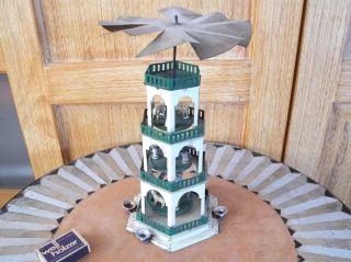 Blech Weihnachtspyramide D.  R.  G.  M Blechspielzeug 1930er Jahre - Art Deco - Antik Bild