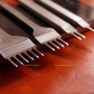 3mm Prongs Leder Werkzeug Leather Craft Stitching Lacing Chisel Punch Tool Bild