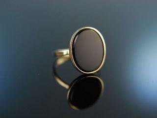 Damen Familien Wappen Siegel Ring Gold 333 Onyx Ungraviert Bild