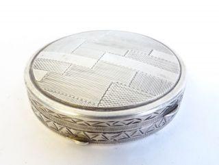 Antikes Metall Schmuckdöschen Pillendose Puderdose Mglw.  Silber Innen Vergoldet Bild
