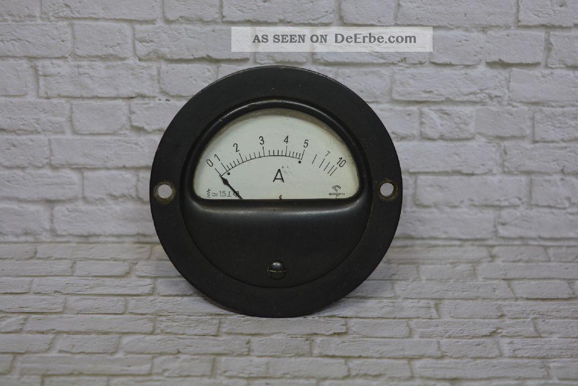 Gossen Amperemeter 0 - 10a Acdc; K23 2 Wissenschaftliche Instrumente Bild