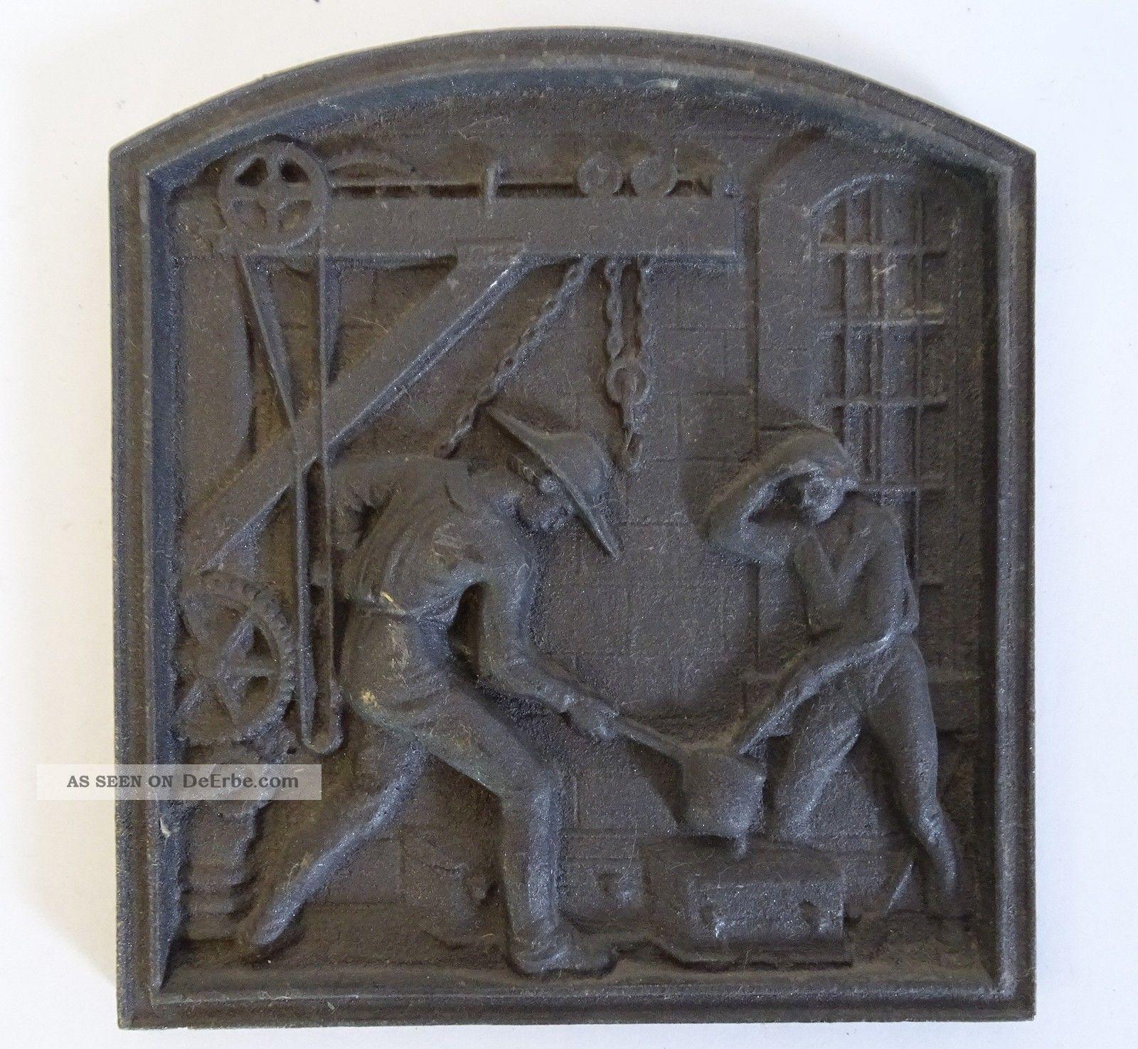 Rarität Orig.  Shw Wasseralfingen Eisen Guss Platte Giesserei 325 Jahre Jubiläum Gefertigt nach 1945 Bild