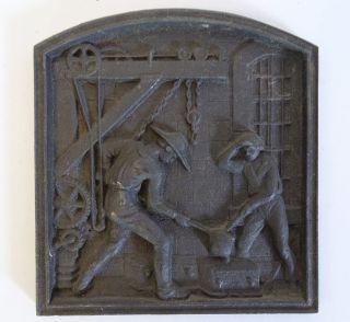 Rarität Orig.  Shw Wasseralfingen Eisen Guss Platte Giesserei 325 Jahre Jubiläum Bild