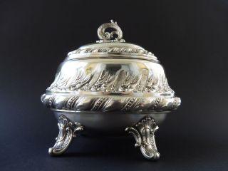 Deutsche 800 Silber Jugendstil Zuckerdose Sugar Box Art Nouveau Vegetabil Silver Bild