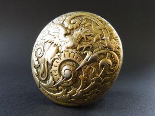 Jugendstil Sterling Silber Dose Pillen Drache Floral Dragon Box Gold Art Nouveau Bild